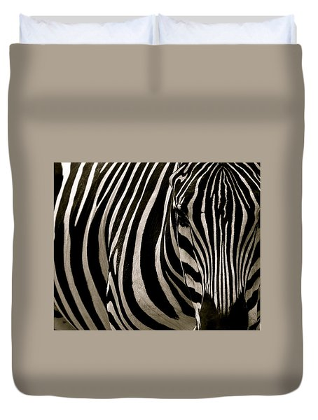 Zebra Up Close Duvet Cover
