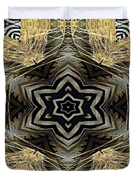 Zebra Vi Duvet Cover by Maria Watt