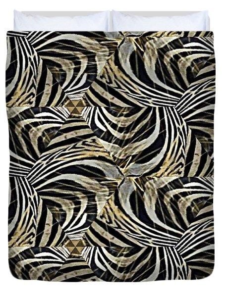 Zebra Vii Duvet Cover by Maria Watt