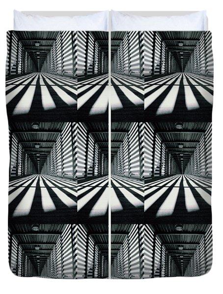 Zebras  Crossing Art Duvet Cover
