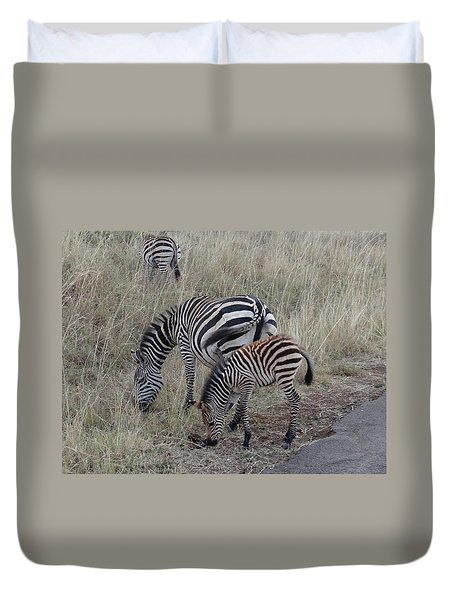Zebras In Kenya 1 Duvet Cover