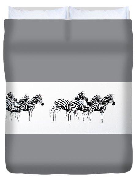 Zebrascape - Original Artwork Duvet Cover