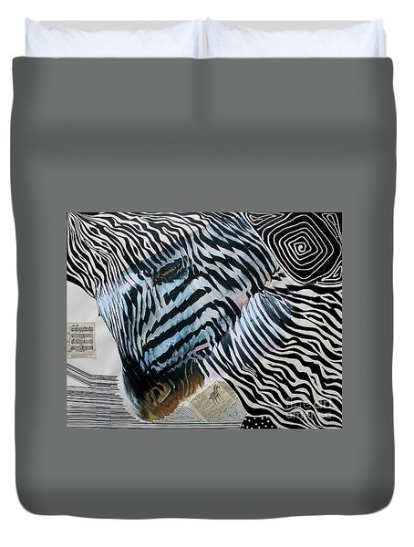 Zebratastic Duvet Cover