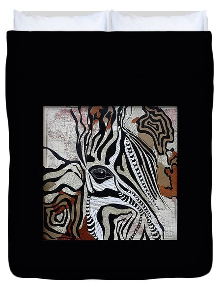 Zebroid Duvet Cover