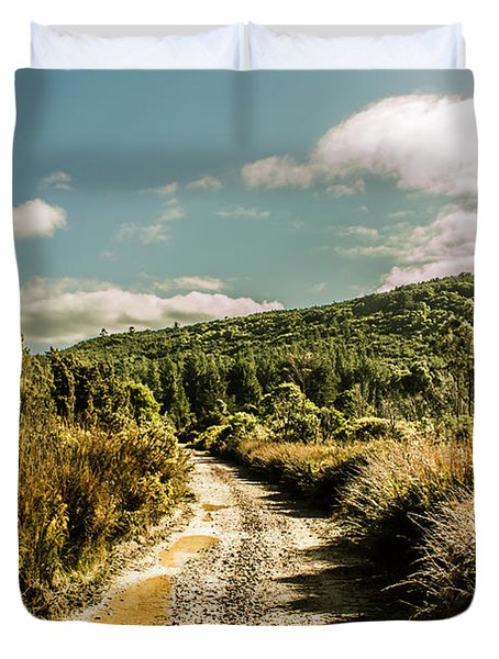 Zeehan Dirt Road Landscape Duvet Cover