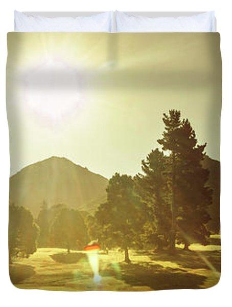 Zeehan Golf Course Duvet Cover