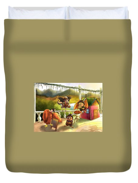 Zeke Cedric Alfred And Polly Duvet Cover