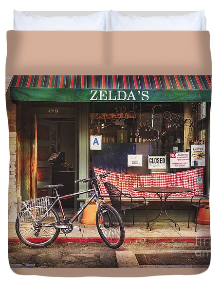 Duvet Cover featuring the photograph Zelda's Bicycle by Craig J Satterlee