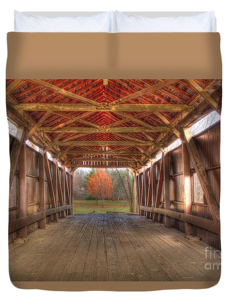 Sycamore Park Covered Bridge Duvet Cover