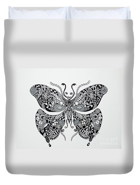 Zen Butterfly Duvet Cover by Tamyra Crossley