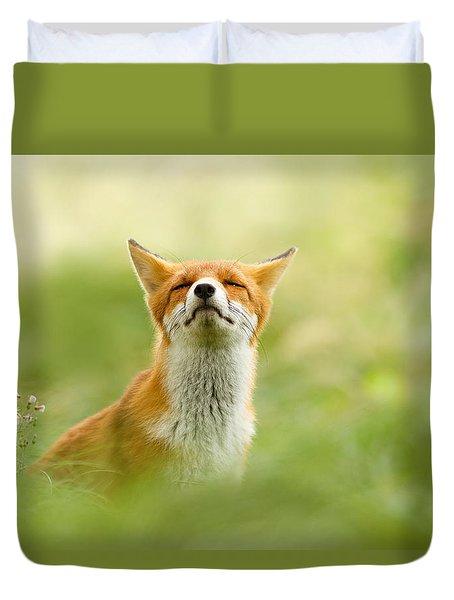 Zen Fox Series - Zen Fox Does It Agian Duvet Cover by Roeselien Raimond