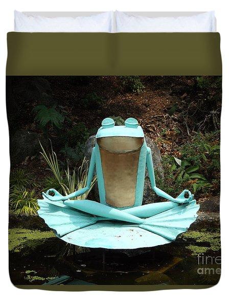 Zen Froggy Duvet Cover by Erick Schmidt