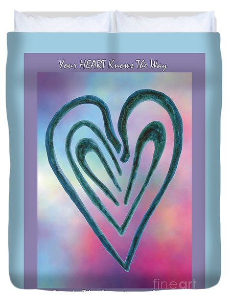 Zen Heart Labyrinth Duvet Cover
