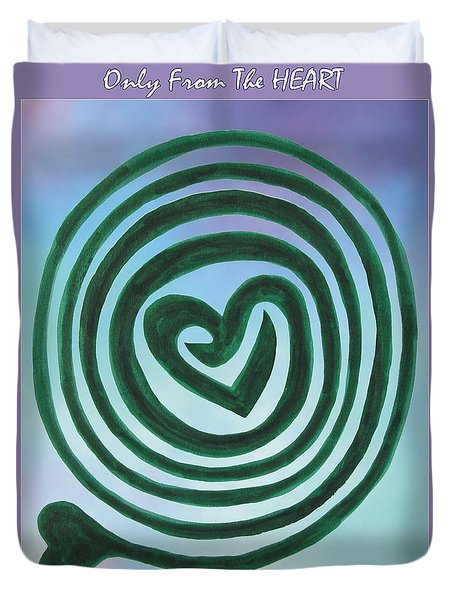 Zen Heart Labyrinth Sky Duvet Cover