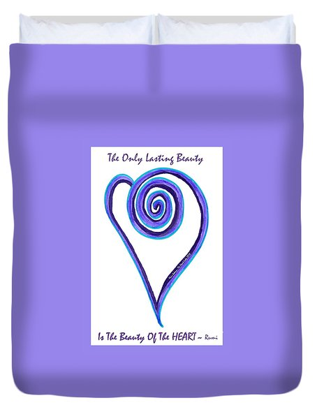 Zen Heart Off Balance Duvet Cover