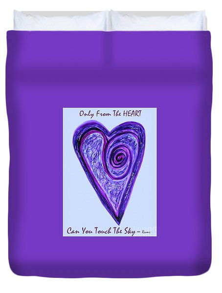 Zen Heart Pink Purple Vortex Duvet Cover