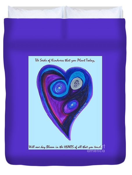 Zen Heart Vortex Duvet Cover