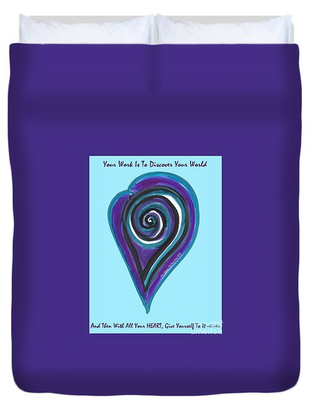 Zen Heart Vortex Wave Duvet Cover