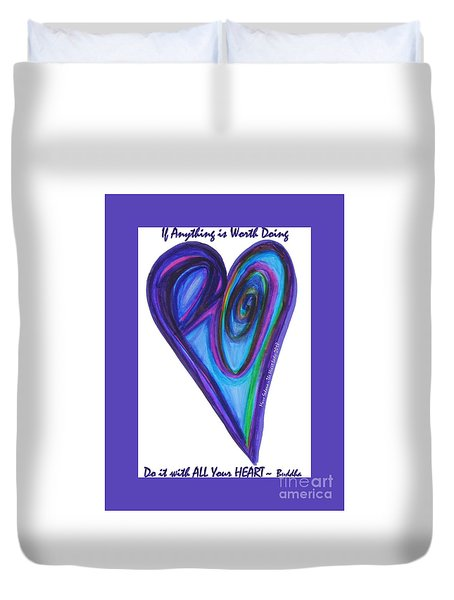Zen Hearts Eclipse Eve Duvet Cover