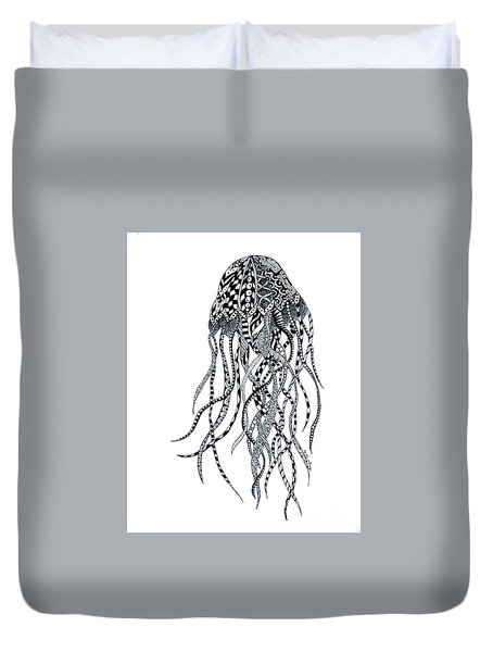 Zen Jellyfish Duvet Cover by Tamyra Crossley