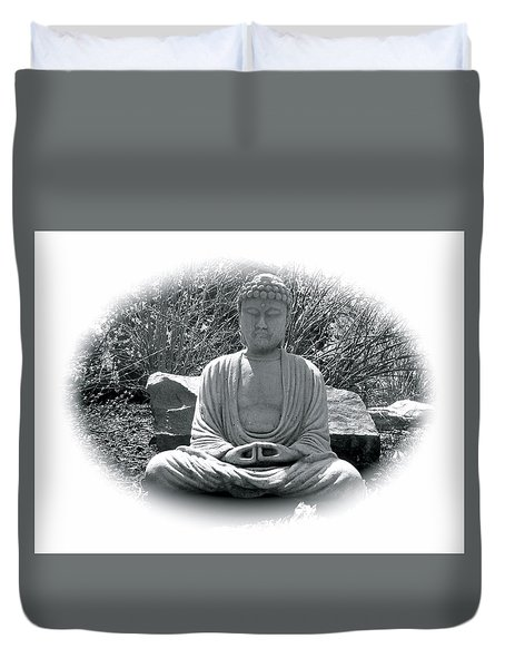 Duvet Cover featuring the painting Zen by Michael Lucarelli