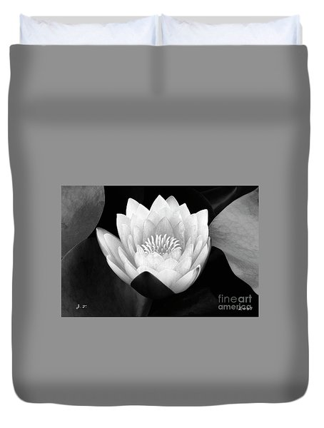 Waterlily Rising  Duvet Cover