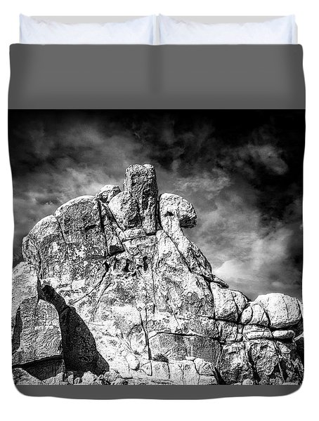 Zen Rocks II Bw Duvet Cover