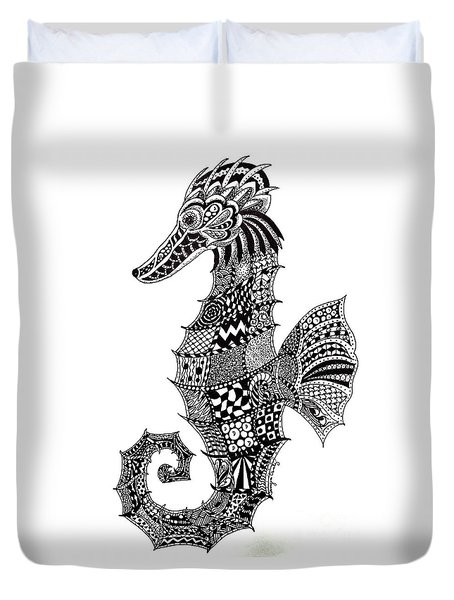 Zen Seahorse Duvet Cover by Tamyra Crossley