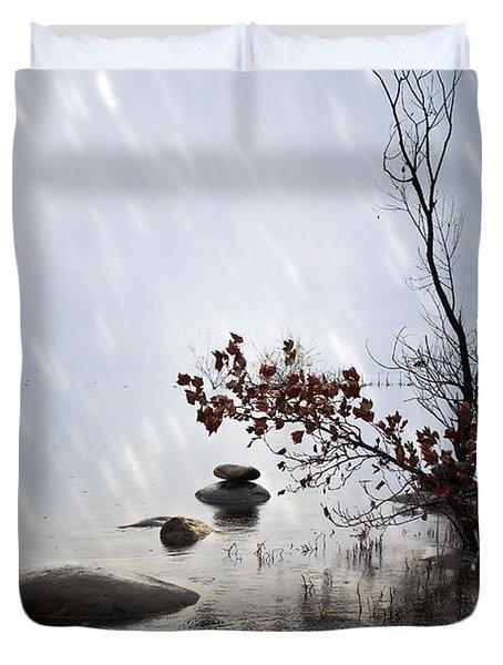 Zen Stones Duvet Cover