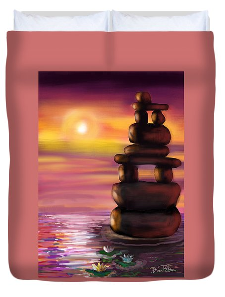 Zen Sunset Duvet Cover