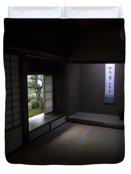 Zen Tea Room Of Koto-in Temple -- Kyoto Japan Duvet Cover