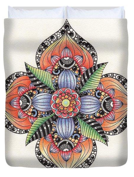 Zendala Template #1 Duvet Cover