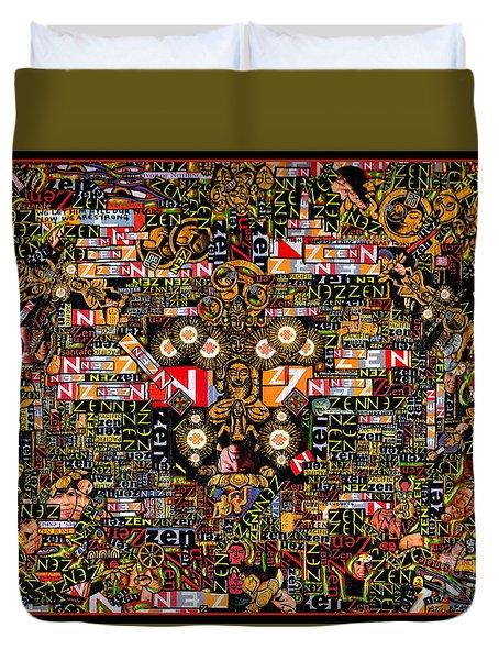 Duvet Cover featuring the mixed media Zengine by Peter Gumaer Ogden
