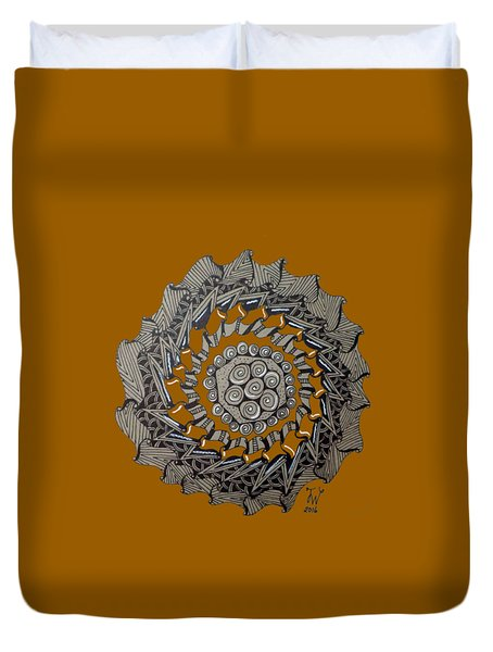 Zentangle Shield  Duvet Cover