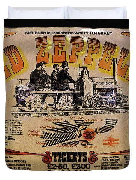 Zeppelin Express Duvet Cover by David Lee Thompson