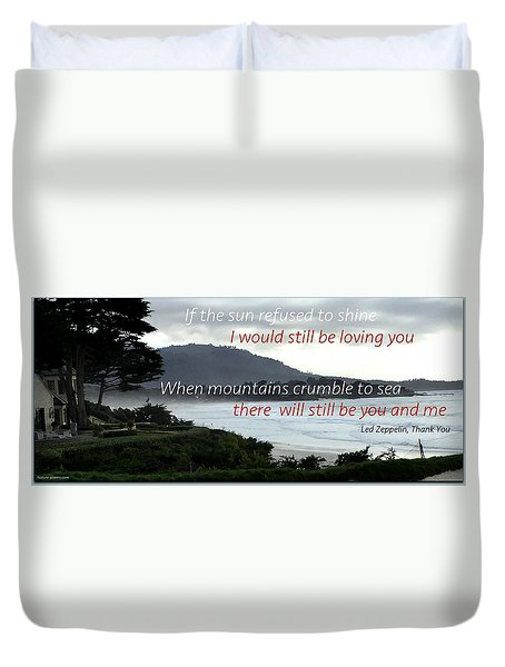 Duvet Cover featuring the photograph Zeppelin Gratitude by David Norman