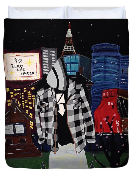 Zero And Under Goes To Tokyo Duvet Cover