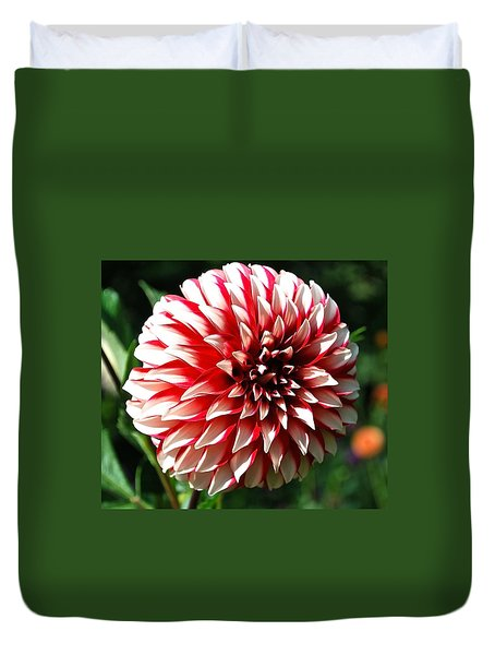 Zesty Dahlia Duvet Cover