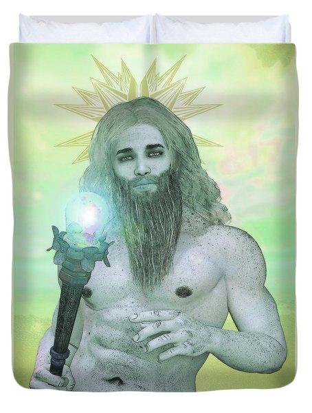 Zeus King Of The Gods Duvet Cover