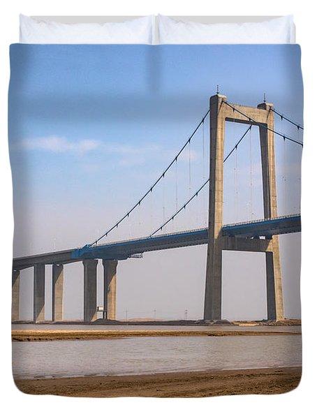 Zhengzhou Taohuayu Huanghe Bridge  Duvet Cover