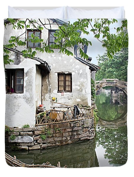 Zhouzhuang - A Watertown Duvet Cover