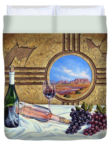 Zia Wine Duvet Cover
