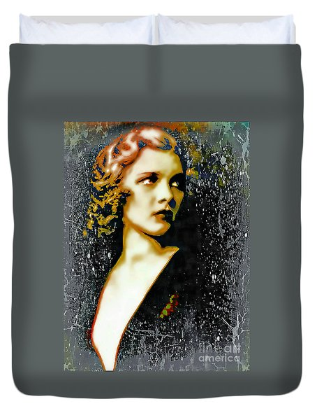 Ziegfeld Follies Girl - Drucilla Strain  Duvet Cover