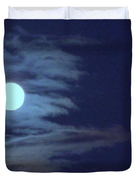 Zig Zag Moon Duvet Cover by Mary Deal
