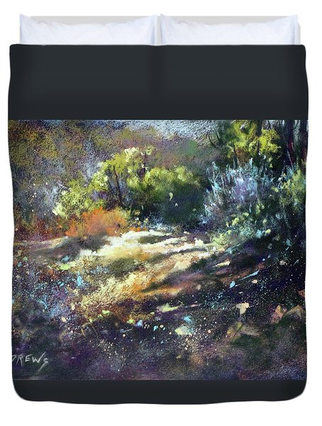 Zig Zag Path Duvet Cover by Rae Andrews