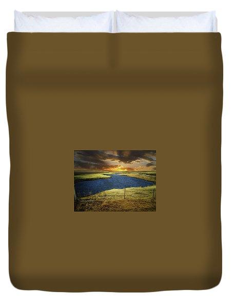 Zig Zag River Duvet Cover