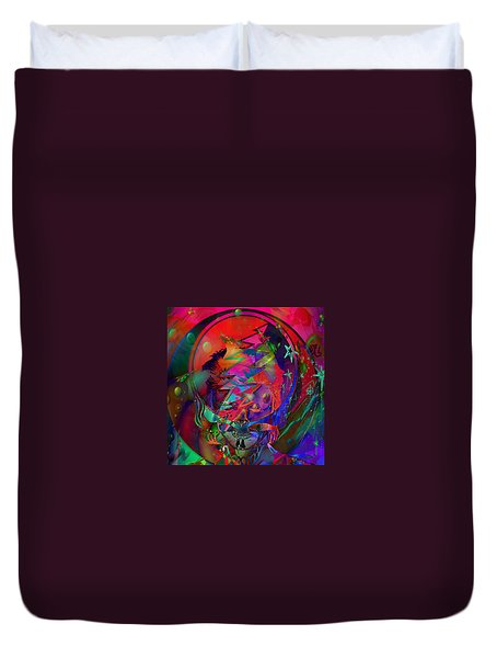 Duvet Cover featuring the painting Ziggy  by Kevin Caudill