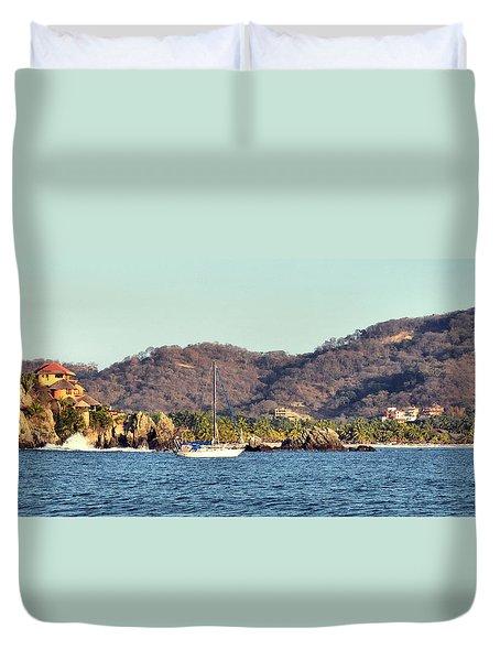 Zihuatanejo Bay Duvet Cover