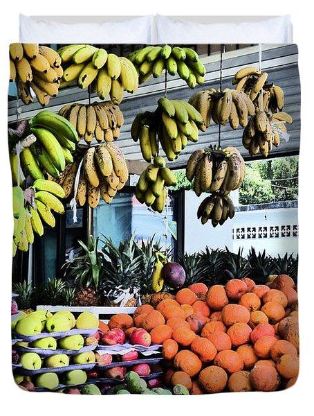 Zihuatanejo Market Duvet Cover