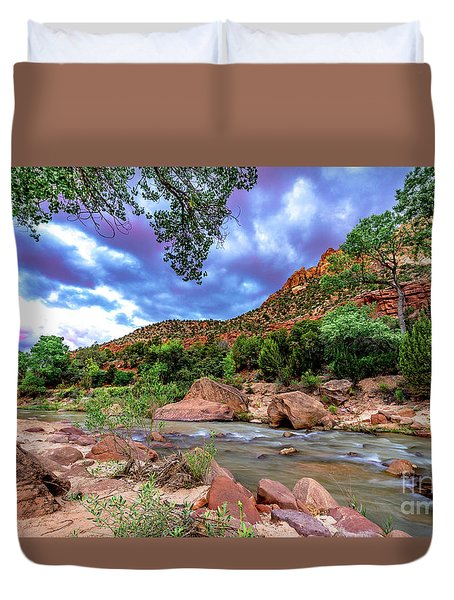 Zion At Daybreak Duvet Cover